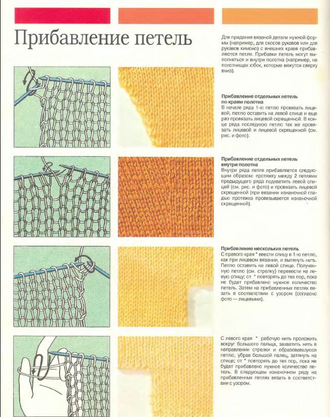 Убавки и прибавки в вязании крючком